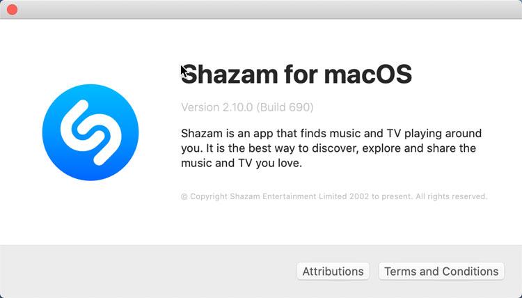 Uninstall Shazam
