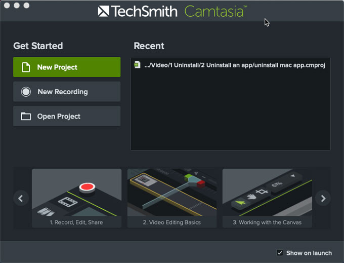 Uninstall Camtasia