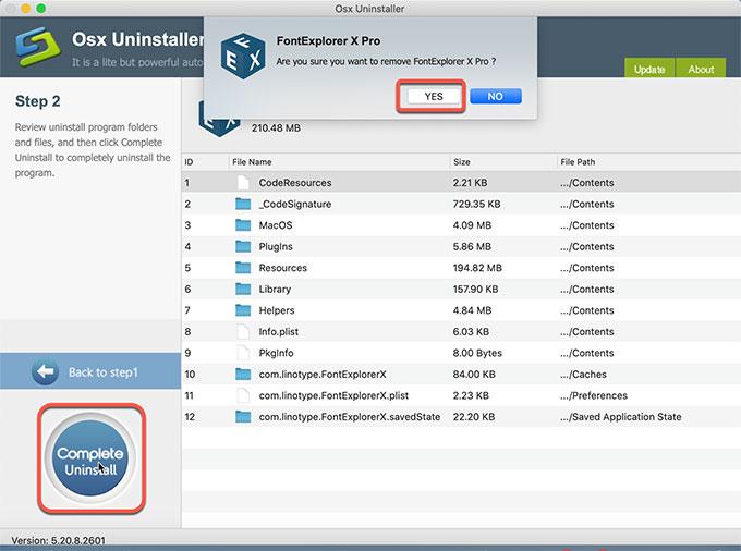 complete remove FontExplorer X Pro