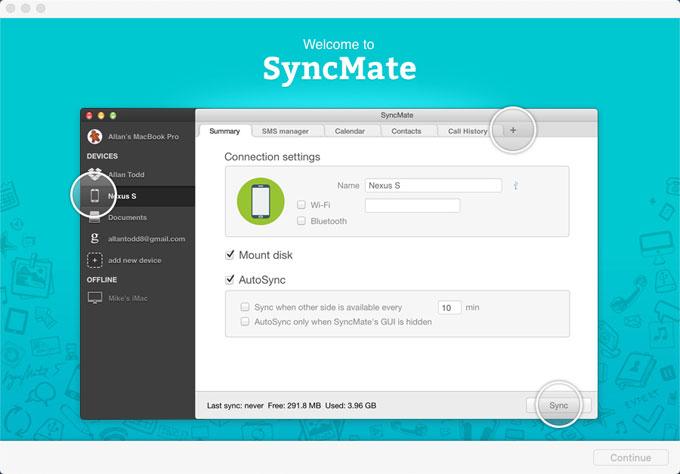 Uninstall SyncMate