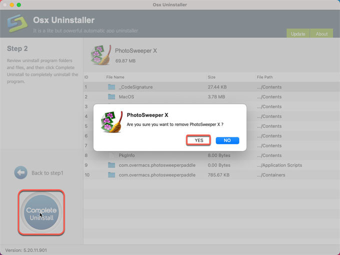 complete uninstall PhotoSweeper