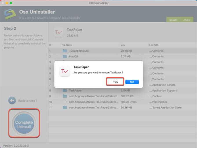 complete uninstall TaskPaper