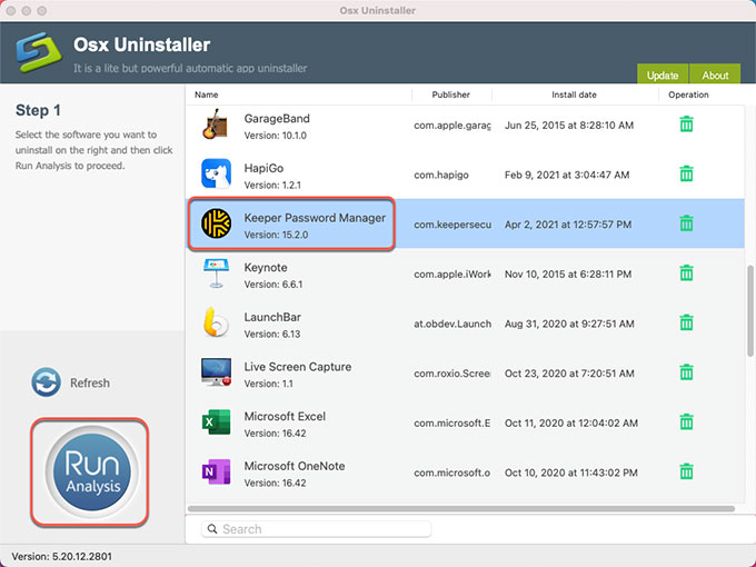 uninstall Keeper Password Manager