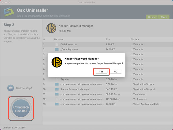 complete uninstall Keeper Password Manager