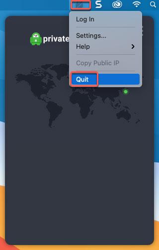 quit Private Internet Access