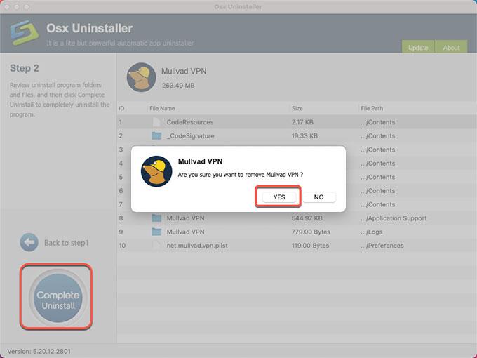complete uninstall Mullvad VPN