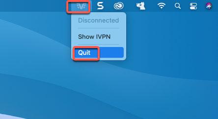 quit IVPN