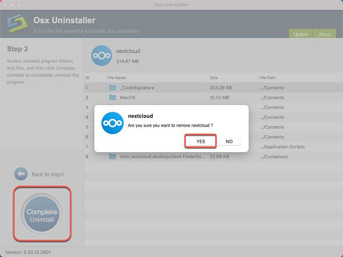 complete uninstall Nextcloud