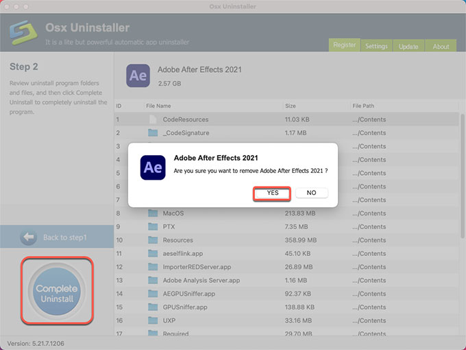 complete uninstall Adobe After Effect