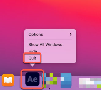 quit Adobe After Effect