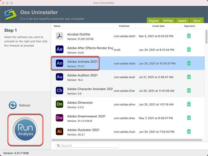 Uninstall Adobe Animate