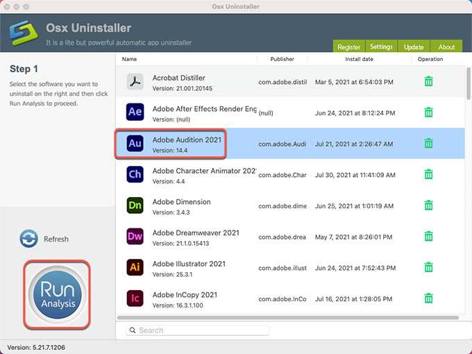 Uninstall Adobe Audition for Mac