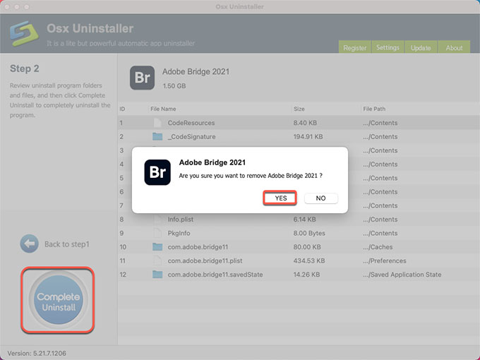 complete uninstall Adobe Bridge 2021