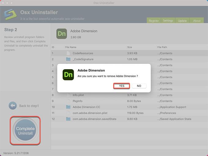 complete uninstall Adobe Dimension