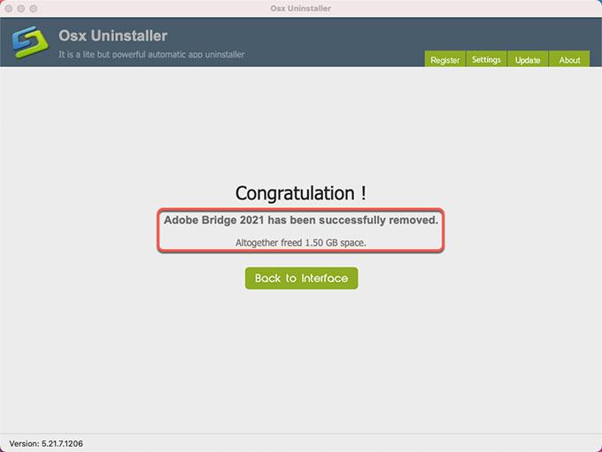 Adobe Bridge 2021 uninstalled