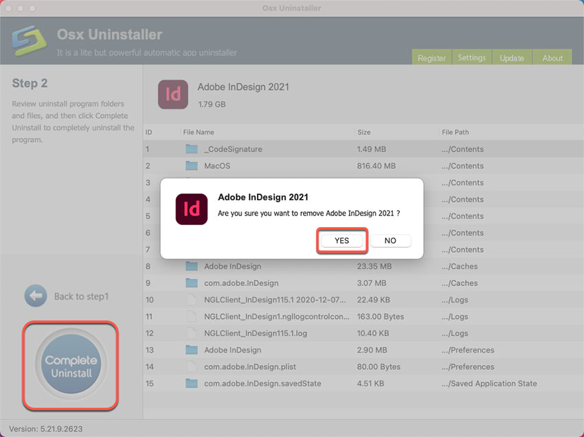 complete uninstall Adobe InDesign