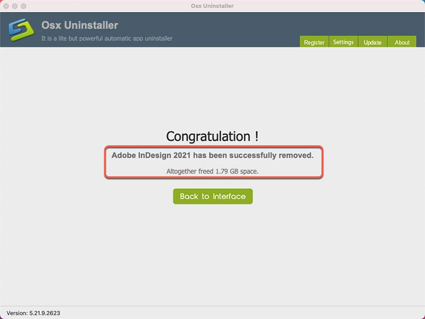 Adobe InDesign is uninstalled