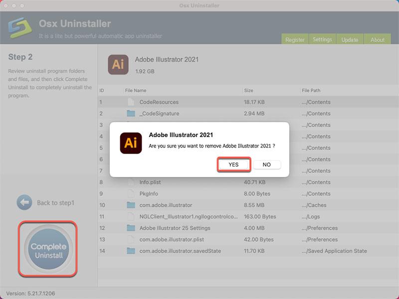 Uninstall Adobe Illustrator 2021