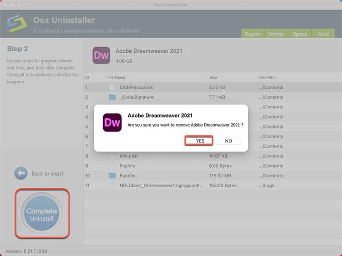 remove Adobe Dreamweaver