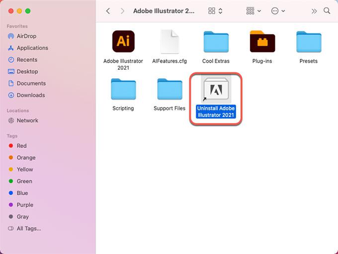 uninstall Adobe Illustrator