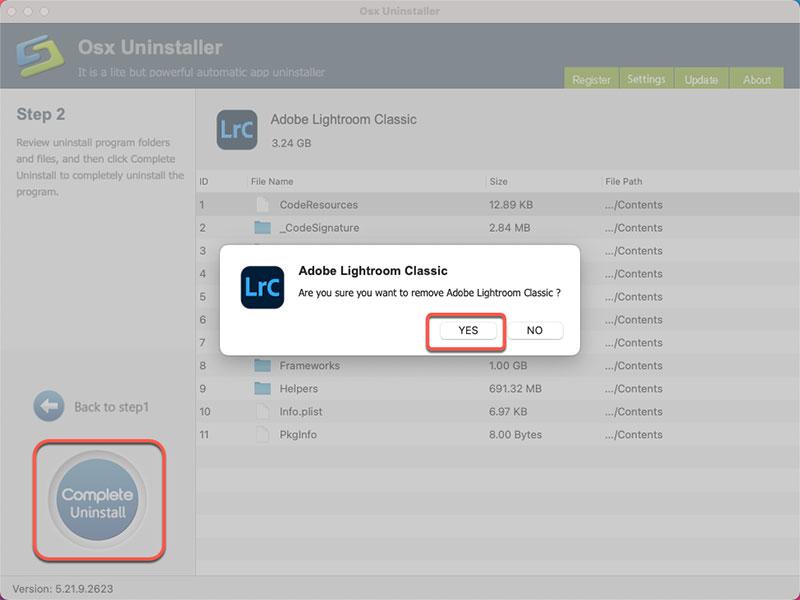 complete remove Adobe Lightroom Classic